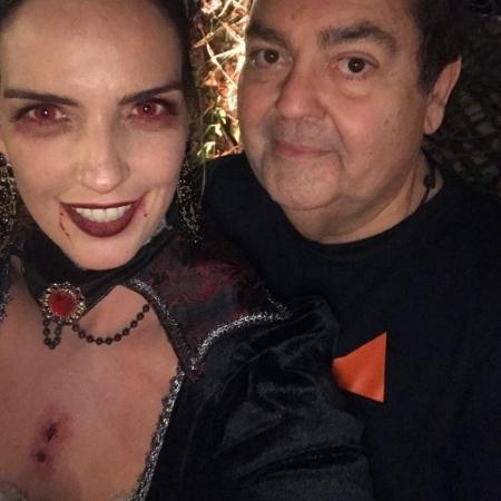 Luciana Cardoso e Faustão na festa de Halloween - Reprodução Instagram/Luciana Cardoso