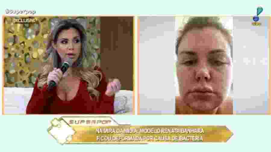 """Renata Banhar no """"Superpop"""" - Reprodução/RedeTV!"""