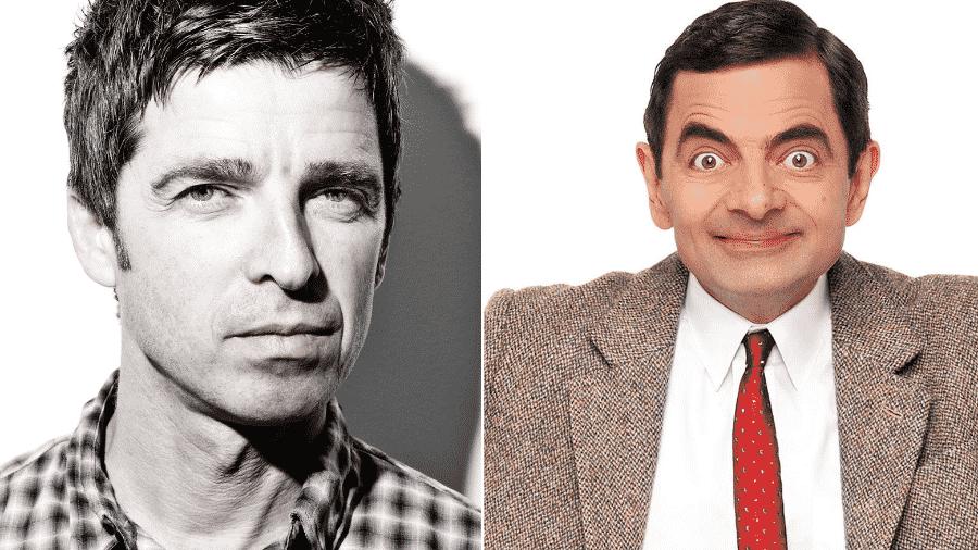 Noel Gallagher e Mr. Bean: parecidos? - Reprodução