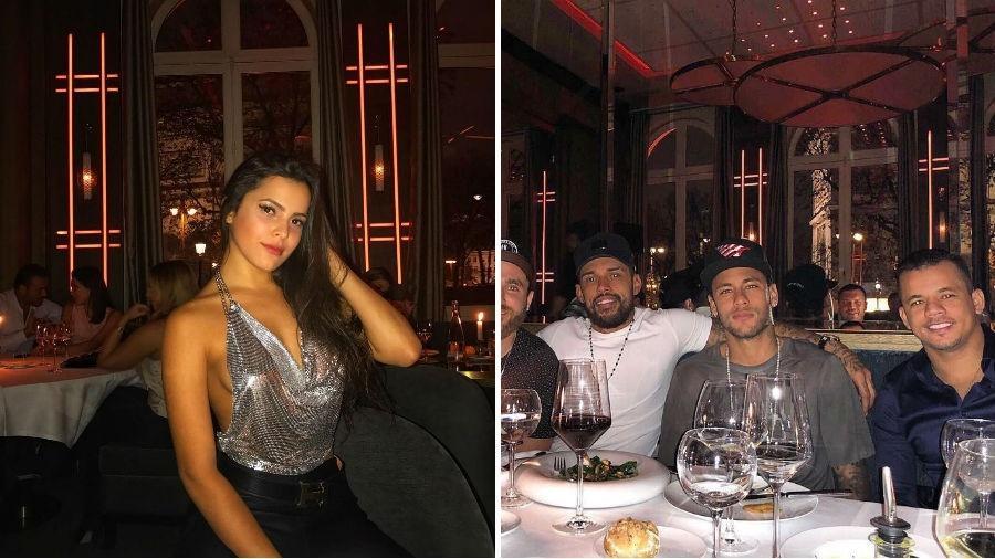 """Emilly, Neymar, Jota Amâncio e outros """"parças"""" em restaurante em Paris - Reprodução/Instagram"""