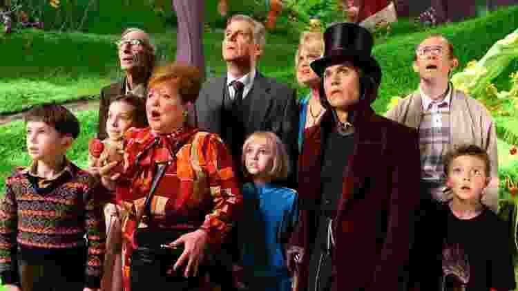 """Willy Wonka (Johnny Depp) na """"Fantástica Fábrica de Chocolates"""" - Reprodução - Reprodução"""