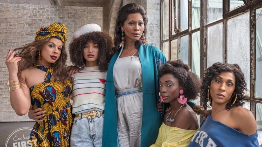 """Elenco da série """"Pose"""", da Netflix; produção mostra a vida de mulheres trans em Nova York nos anos 1980 e 1990 - FX"""