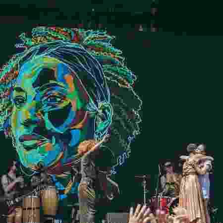 Os artistas homenagearam Marielle Franco, assassinada a tiros no Rio  - Felipe Gabriel/UOL - Felipe Gabriel/UOL