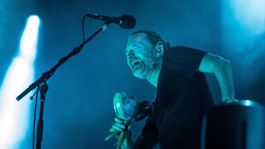 Thom Yorke se apresenta com sua banda, Radiohead, no Soundhearts Festival, no Allianz Parque, em São Paulo - Simon Plestenjak/UOL