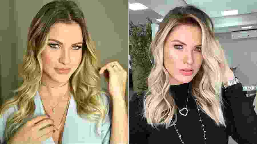 Andressa Suita antes e depois de mudar o visual - Reprodução/Instagram