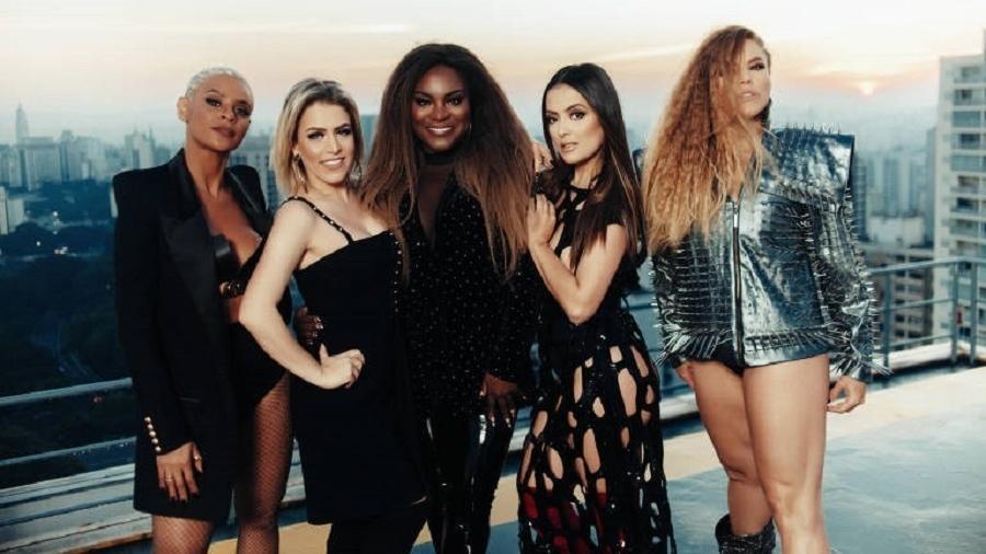 Integrantes do Rouge durante gravações do videoclipe - Divulgação