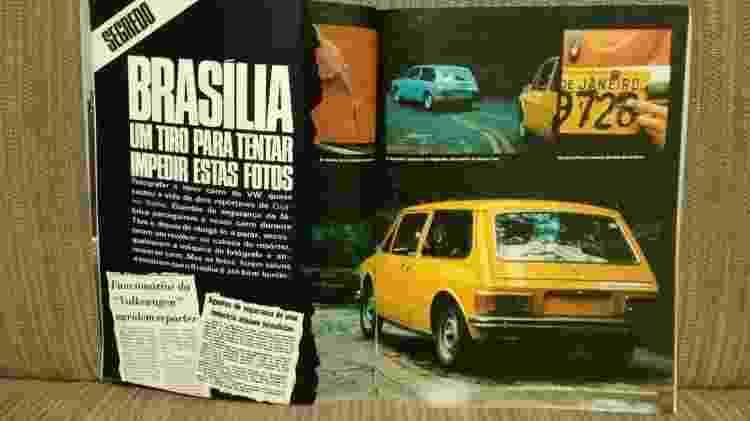 VW Brasília tiro Larangeira - Claudio Larangeira/Quatro Rodas/Reprodução - Claudio Larangeira/Quatro Rodas/Reprodução