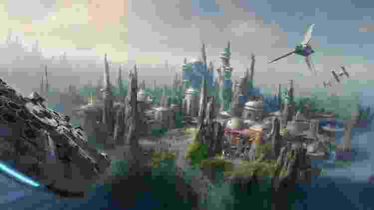 """Parque da Disney inspirado em """"Star Wars""""  transportará visitantes para outro planeta - Divulgação/Disney - Divulgação/Disney"""