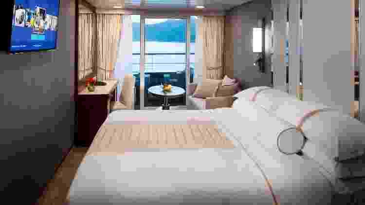 O navio do Red Carpet Cruise tem capacidade para quase 700 passageiros - Michel Verdure/Desire Red Carpet Cruise