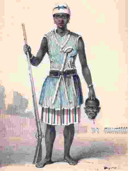 Conhecidas como Amazonas do Daomé, as mulheres africanas não só regiam a sociedade, como lutavam em guerras - Divulgação