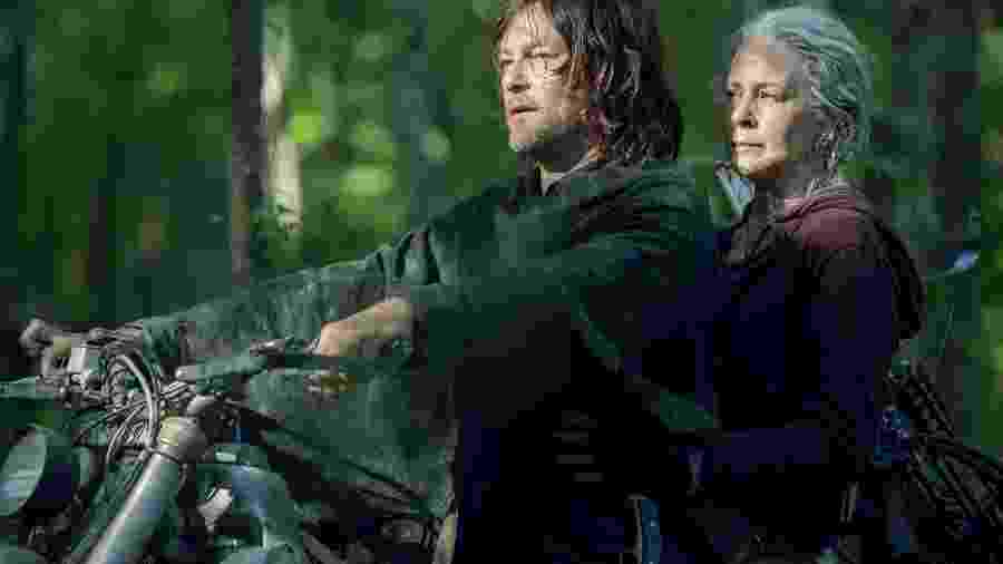 Daryl (Norman Reedus) e Carol (Melissa McBride) em The Walking Dead - JACKSON LEE DAVIS/AMC