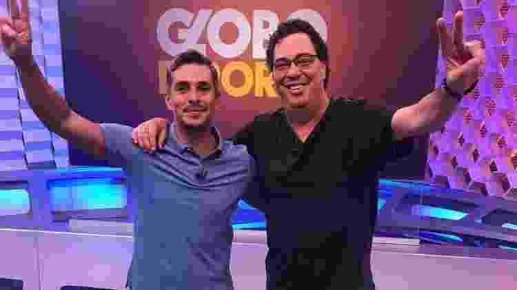 Ivan Moré e Walter Casagrande Jr. no estúdio do Globo Esporte - Reprodução/Instagram/wcasagrandejr - Reprodução/Instagram/wcasagrandejr