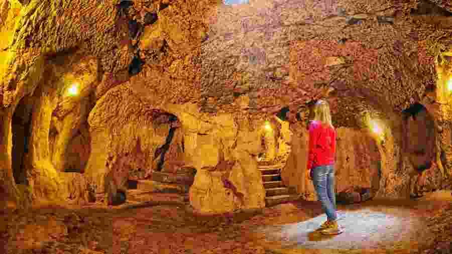 Aberta a turistas, Derinkuyu fica na região da Capadócia, na Turquia  - maroznc/Getty Images/iStockphoto