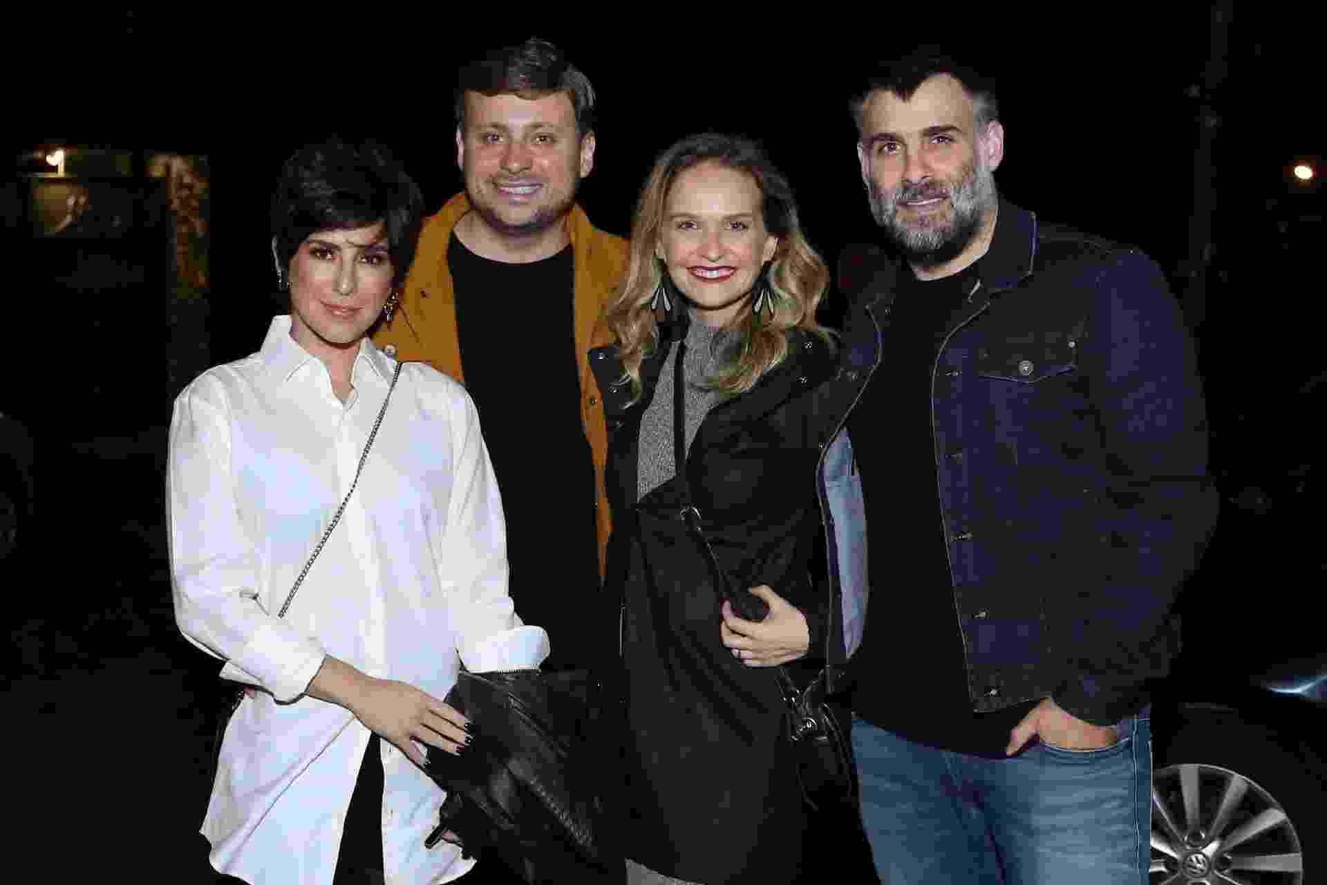 Fernada Paes Leme, Leo Fuchs, Fernanda Rodrigues e Raoni Carneiro no Rio, na festa de Luciano Huck, que completou ontem 48 anos - ROBERTO FILHO / BRAZIL NEWS