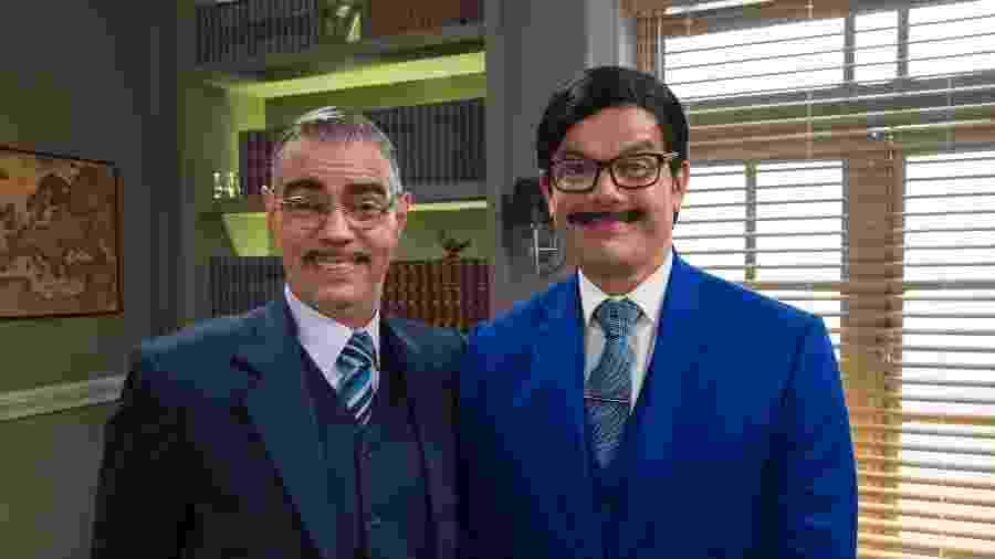 O antigo Ptolomeu (Nizo Neto) encontra o atual (Otaviano Costa) na Escolinha do Professor Raimundo - Globo/Estevam Avellar