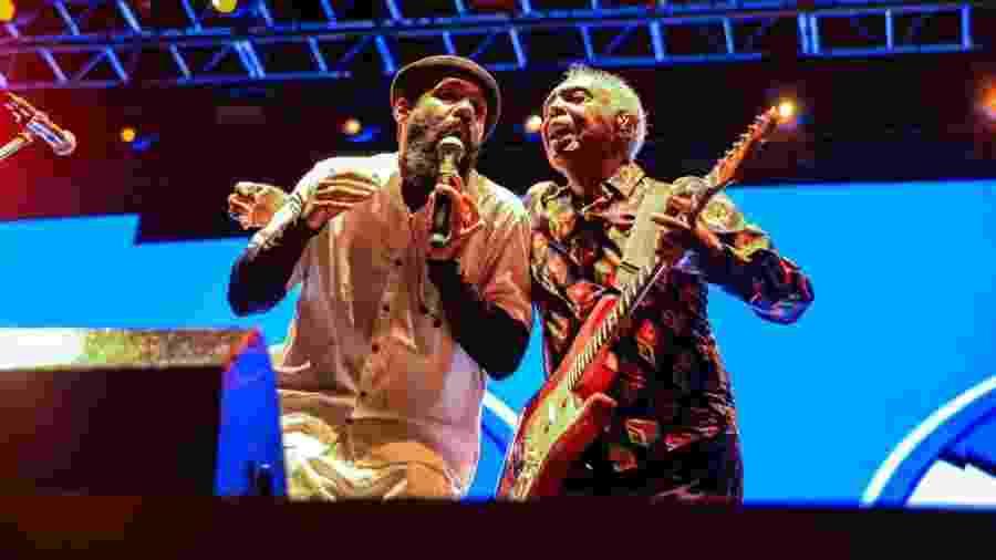 BaianaSystem e Gilberto Gil em show em Salvador - Magali Moraes/Divulgação
