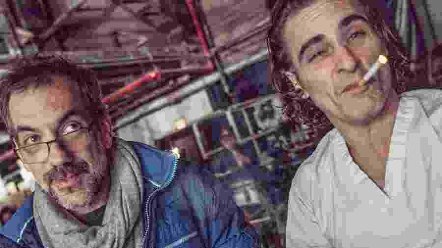 Todd Phillips e Joaquin Phoenix no set de filmagens de Coringa - Reprodução/Instagram