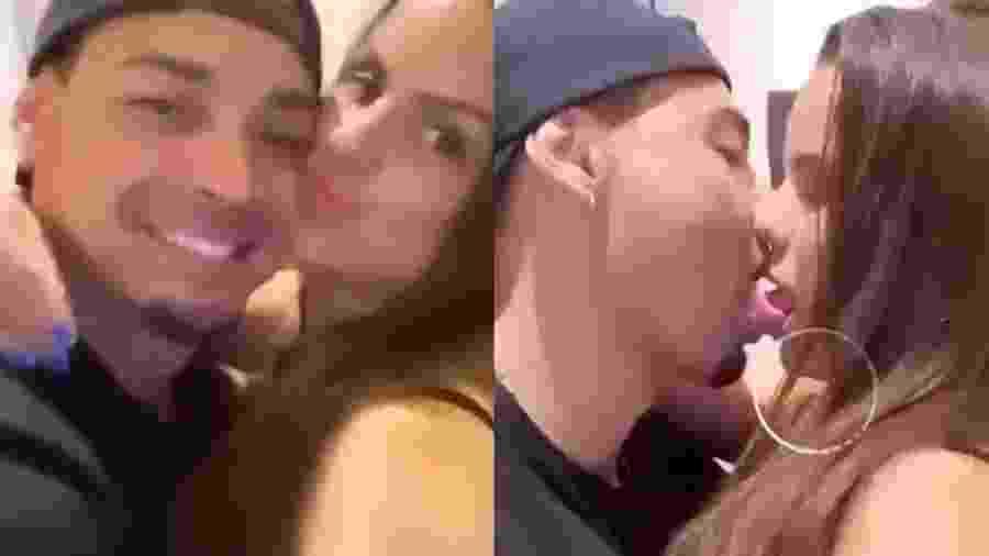 Ex de Juju Salimeni, Felipe Franco beija ex-panicat Carol Dias - Reprodução