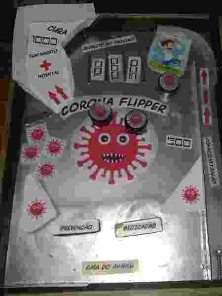 Invenção de Carlos ganhou o nome de Corona Flipper - Arquivo pessoal