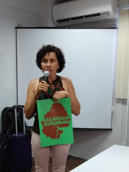 Dorinete Serejo, moradora da comunidade Canelatíua e coordenadora do Movimento dos Atingidos pela Base Espacial de Alcântara (Mabe) - Arquivo Pessoal