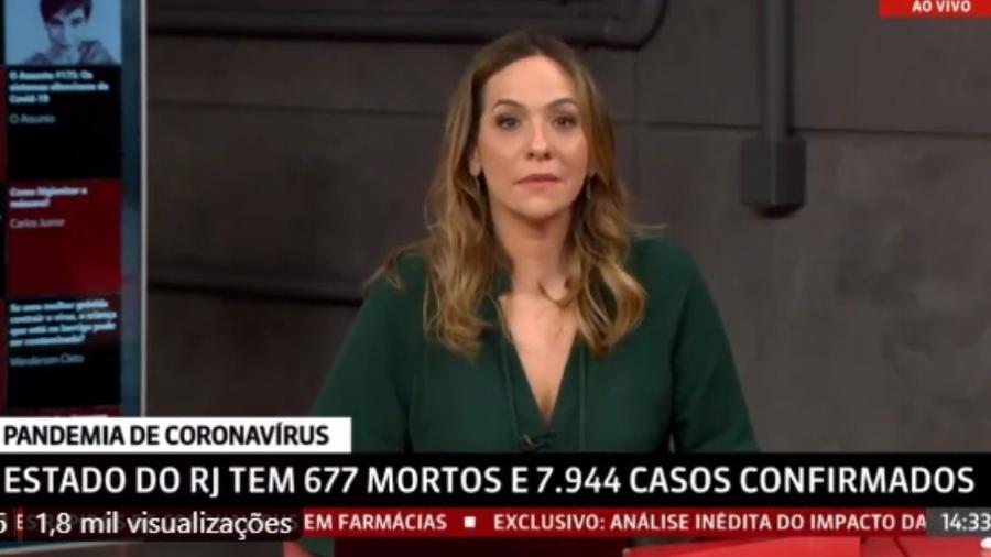 Maria Beltrão se emociona na GloboNews - Reprodução/GloboNews