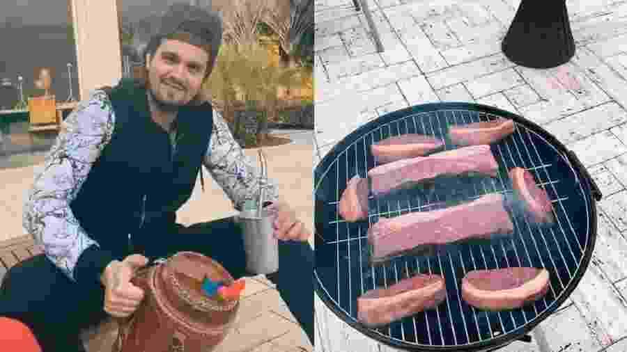 Luan Santana exibe churrasco em casa nas redes sociais - Reprodução/Instagram