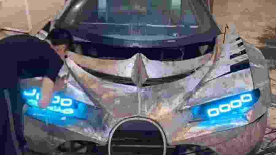 Homem faz réplica de Bugatti Vision Gran Turismo Concept - Reprodução
