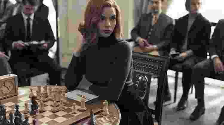 """A atriz  Anya Taylor-Joy interpreta uma enxadrista em """"O Gambito da Rainha"""" - Divulgação/ Netflix - Divulgação/ Netflix"""