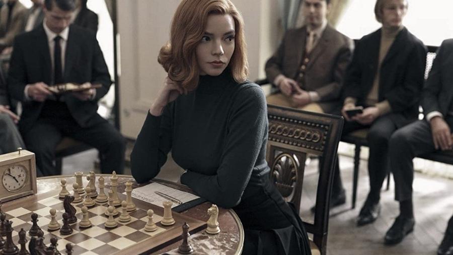 """A atriz  Anya Taylor-Joy interpreta uma enxadrista em """"O Gambito da Rainha"""" - Divulgação/ Netflix"""