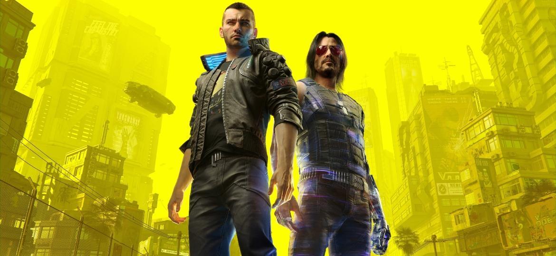 Keanu Reeves, no papel de Johnny Silverhand (à direita), é uma das atrações de Cyberpunk 2077 - Divulgação/CD Projekt Red