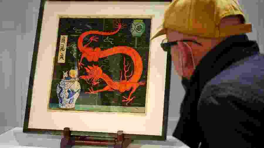 A pintura é obra do ilustrador belga Georges Remi, mais conhecido por Hergé, criador dos quadrinhos de Tintim - REUTERS/Noemie Olive