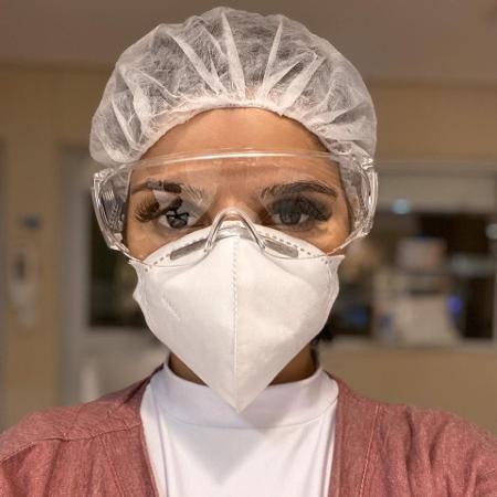 Giovanna Marques trabalha como enfermeira de UTI covid em dois hospitais - Arquivo pessoal