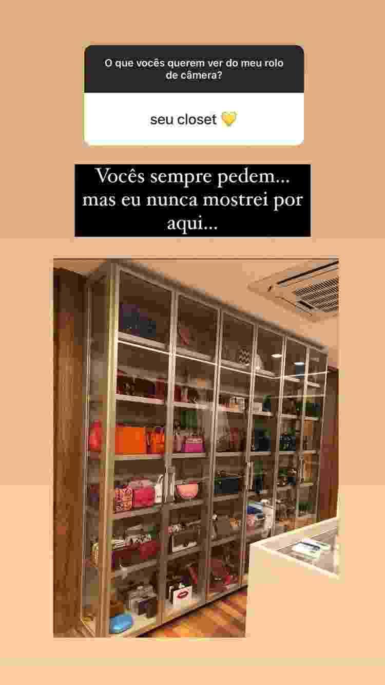 Closet Marina Ruy Barbosa - Reprodução/Instagram - Reprodução/Instagram