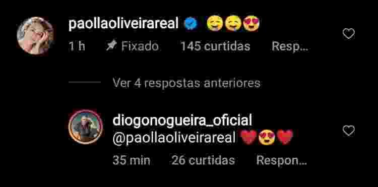 Paolla Oliveira elogia Diogo Nogueira em foto dele sem camisa - Reprodução/Instagram - Reprodução/Instagram