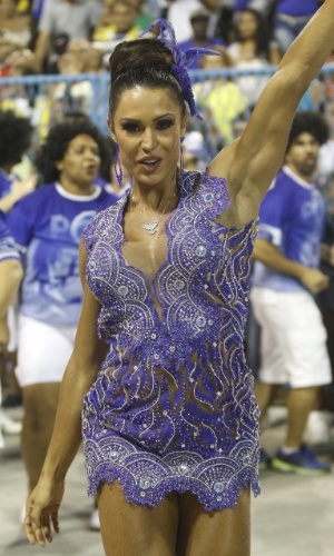 17.jan.2016 - Gracyanne Barbosa participa de ensaio técnico da Portela na Sapucaí