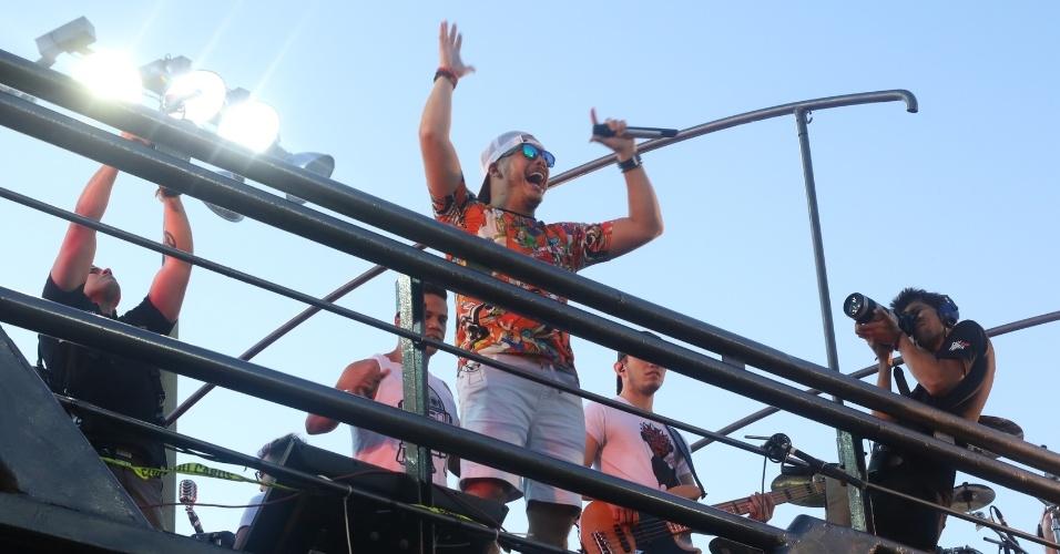 O trio de Safadão foi o quinto a se apresentar no circuito Barra-Ondina, em Salvador