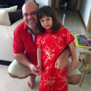 Cláudio deixou de ser empresário para se dedicar aos cuidados com a filha, Luiza - Arquivo Pessoal