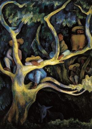 """""""Paisaje nocturno"""" (1947), obra do mexicano Diego Rivera  - Divulgação"""