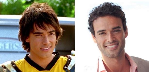 "Glenn McMillan em ""Power Rangers: Tempestade Ninja"" (2003) e atualmente - Montagem/UOL"