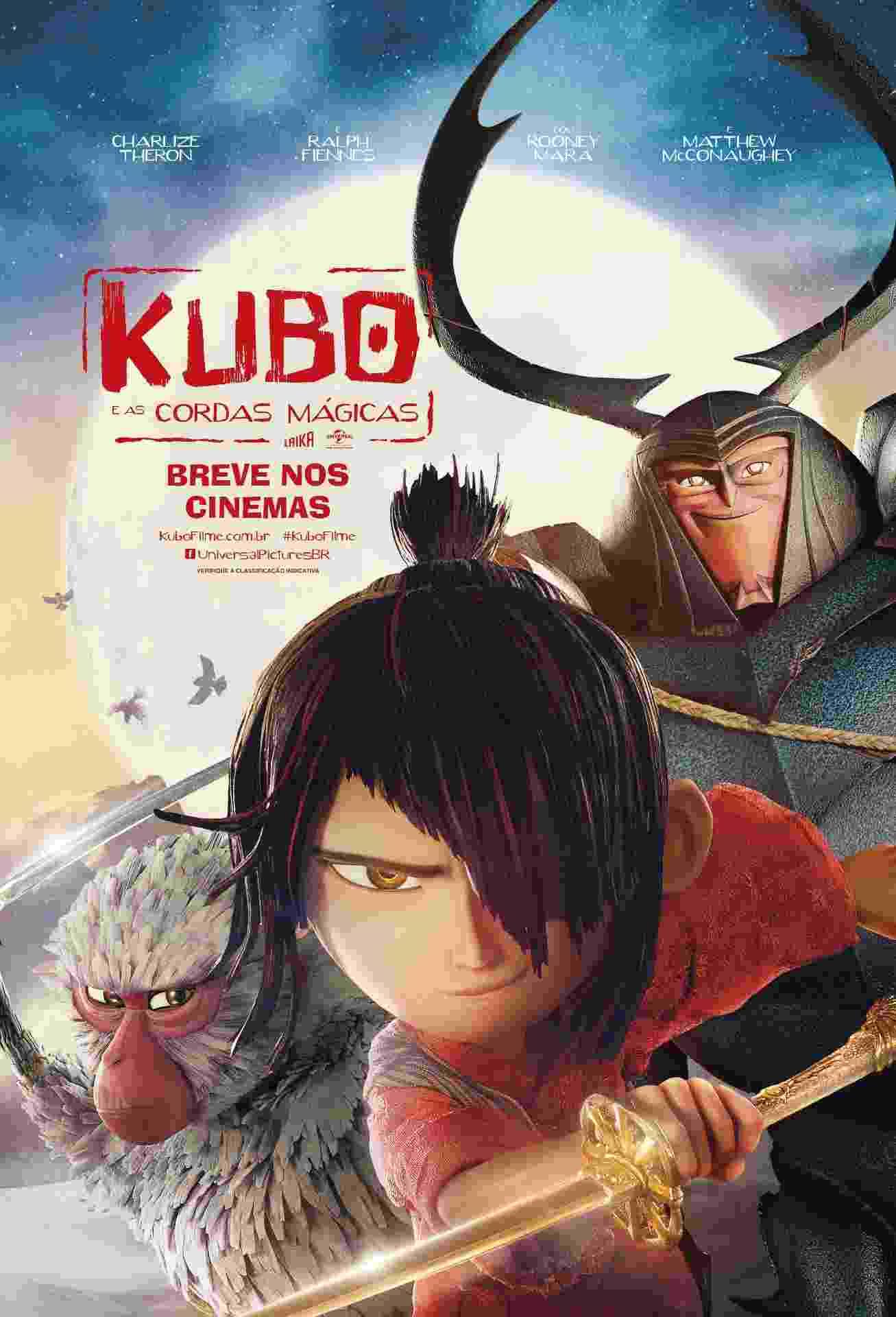 """Pôster da animação """"Kubo e as Cordas Mágicas"""", de Travis Knight - Divulgação"""