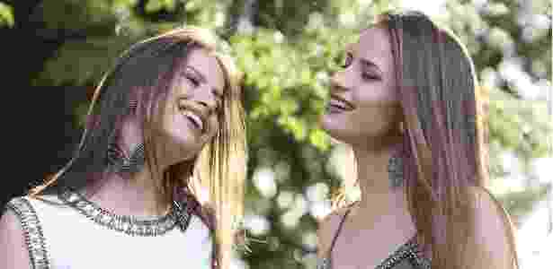 As gêmeas Julia & Rafaela, aos 14 anos, gravaram o primeiro EP sertanejo - Divulgação - Divulgação