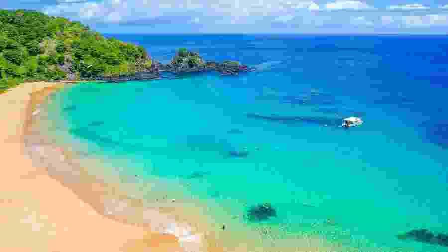 Praia do Sancho, em Fernando de Noronha, é a melhor praia do mundo, segundo TripAdvisor - Getty Images