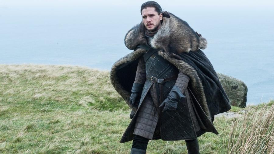 """Jon Snow em cena do quinto episódio da 7ª temporada de """"Game of Thrones"""" - Divulgação"""