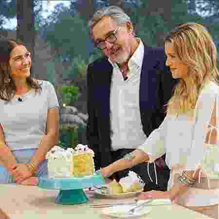 """Carolina Fiorentino, Fabrizio Fasano Jr. e Beca Milano são o trio do """"Bake Off Brasil"""" - Reprodução/Instagram - Reprodução/Instagram"""