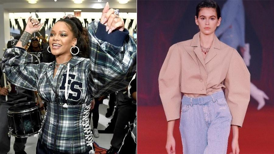 Rihanna e Kaia Gerber - Reprodução/Instagram