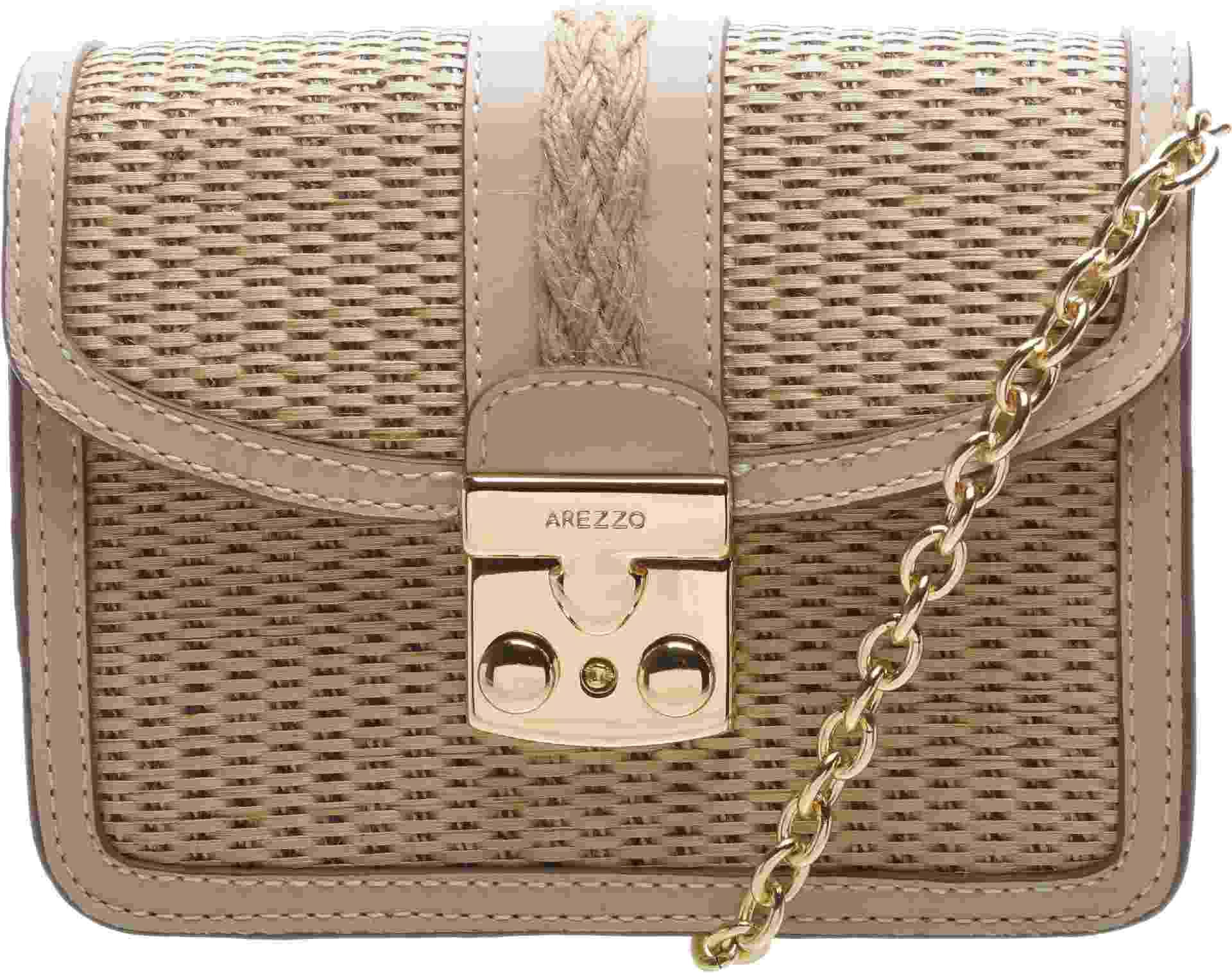 Bolsa de palha com alça de metal, R$ 539,90, Arezzo, arezzo.com.br - Divulgação