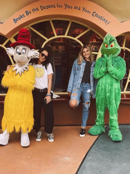 Sasha Meneghel com a amiga Bruna Moreira em Orlando - Reprodução/Instagram