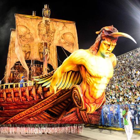 Desfile da Beija-Flor, campeã do Carnaval 2018 do Rio de Janeiro - Clever Felix/Brazil Photo Press/Folhapress