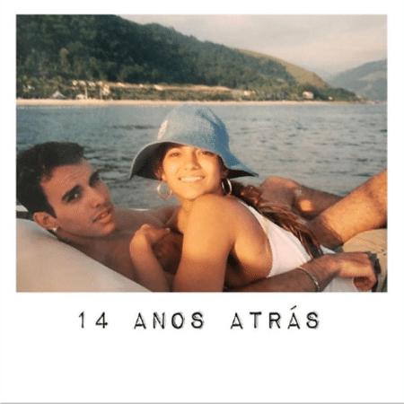 Kelly Key e Mico Freitas em foto de 14 anos atrás - Reprodução/Instagram/oficialkellykey