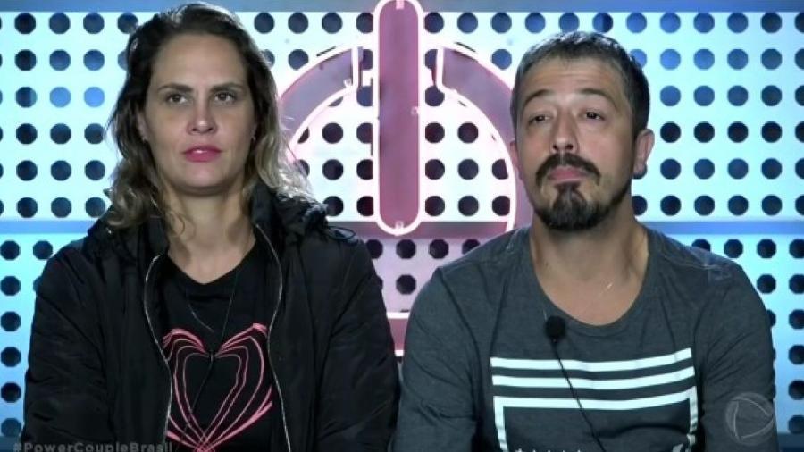 """Paulo e Aritana no """"Power Couple Brasil"""" - Reprodução/TV Record"""